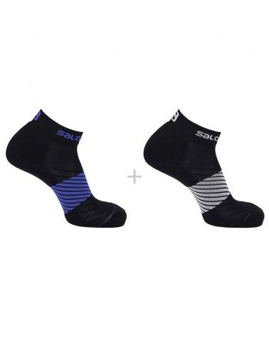 Salomon XA 2-Pack Unisex Trail Running Socks, Night Sky/Black (2 pairs)
