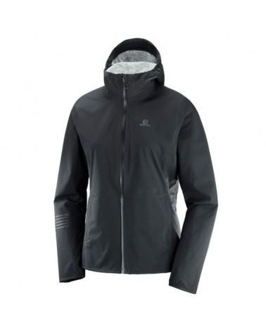 Salomon Lightning WP JKT W Waterproof Women's Trail Running Jacket, Black