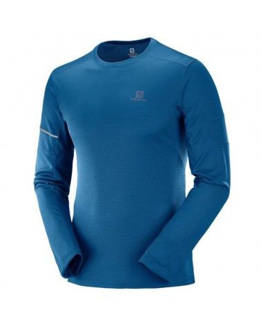 Salomon Agile LS Tee M Men's Trail Running Long Sleeve, Poseidon