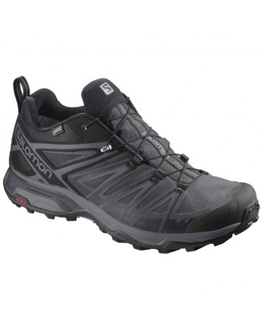 Salomon X Ultra 3 GTX Gore-Tex Men's Trekking Shoes, Black/Magnet/Quiet Shade
