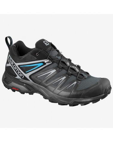 Salomon X Ultra 3 Men's Trekking Shoes, Phantom/Black/Hawaiian Surf