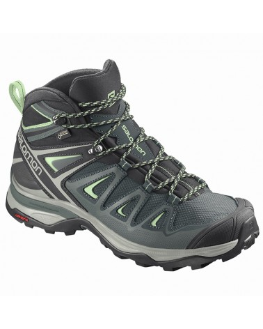 Salomon X Ultra 3 Mid GTX Gore-Tex Women's Trekking Boots, Green Gables/Balsam Green/Patina Green