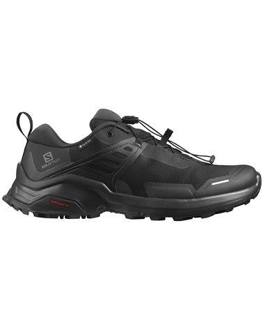 Salomon X Raise GTX Gore-Tex Men's Trekking Shoes, Black/Black/Phantom