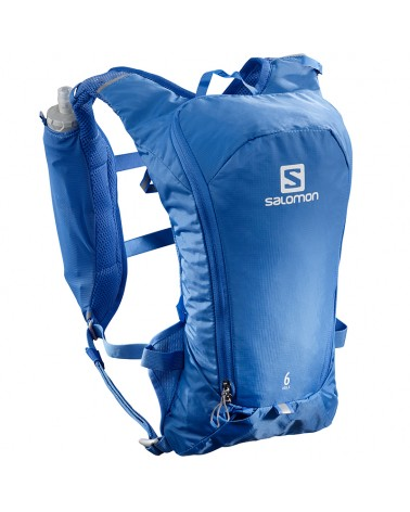 Salomon Agile 6 Set Zaino Idrico Running, Nebulas Blue (2 Flask da 500 ml Inclusi)