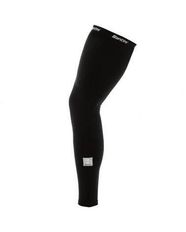 Santini Totum Leg Warmer Gambali in Termofelpa, Black