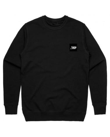 Santa Cruz Patch Crew Neck Men's Sweatshirt, Black