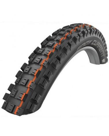 Schwalbe Eddy Current Rear 29x2.60 EVO SnakeSkin Super Gravity Addix Soft Tubeless Ready Tyre, Black