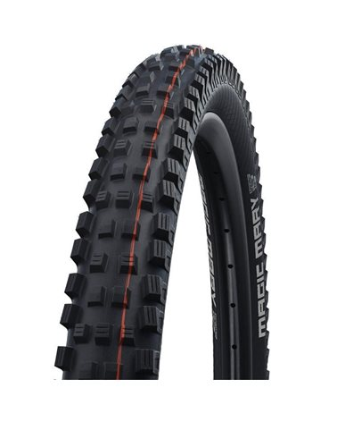 Schwalbe Magic Mary 27.5x2.80 EVO SnakeSkin Super Trail Addix Soft Tubeless Ready Tyre, Black