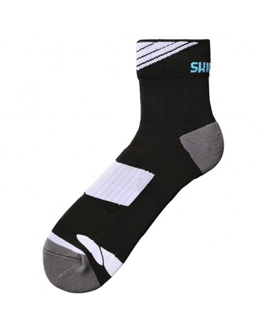 Shimano Performance Normal Ankle Socks Calze Ciclismo Altezza Media, Black/White