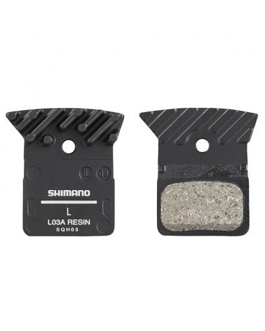 Shimano Pastiglie Freno Resina L03A Incluso Spring/Split Pin (1 Paio)