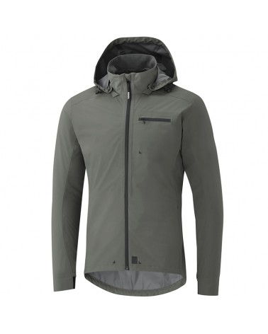 Shimano Transit Men's Full Zip Cycling Hardshell Jacket Size M, Grey