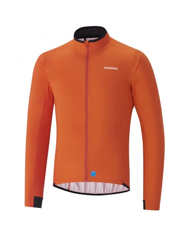Shimano Variable Condition Giacca Ciclismo Uomo Impermeabile Full Zip, Arancio