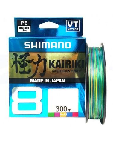 Shimano Kairiki 8 300m Filo da Pesca Intrecciato, Multicolore