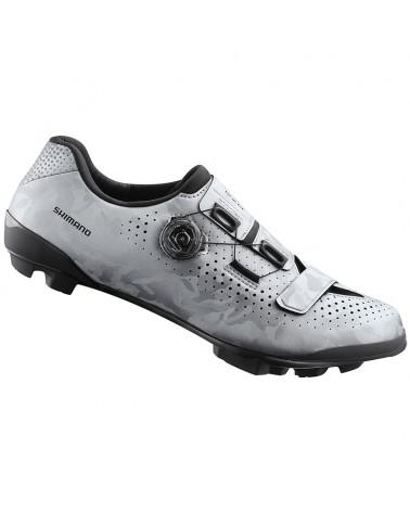 Shimano SH-RX800 Men's Gravel Cycling Shoes, Silver