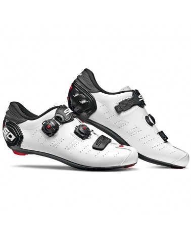 Sidi Ergo 5 Men's Road Cycling Shoes, White/Black