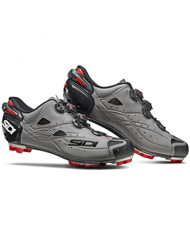 Sidi Tiger Carbon SRS Ltd. Men's MTB Cycling Shoes, Matte Black/Grey