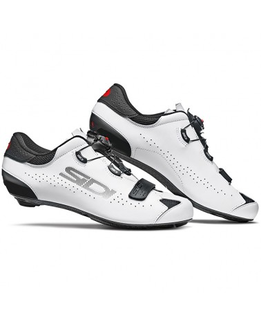 Sidi Sixty Men's Road Cycling Shoes, Black/White