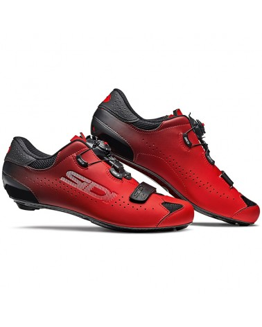 Sidi Sixty Men's Road Cycling Shoes, Black/Red
