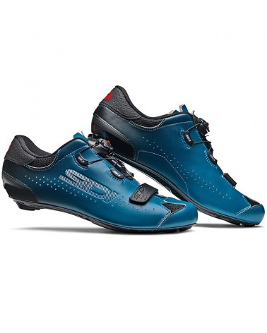 Sidi Sixty Men's Road Cycling Shoes, Black/Petrol