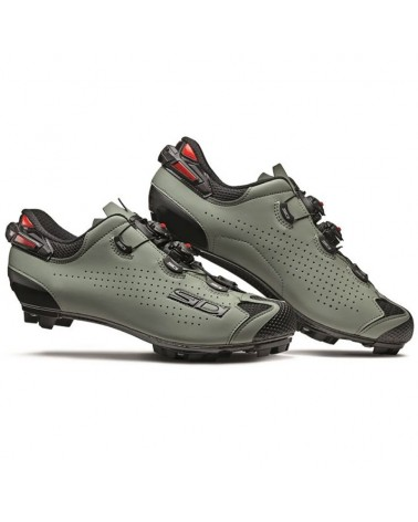 Sidi Tiger 2 Carbon SRS Men's MTB Cycling Shoes, Nero/Salvia