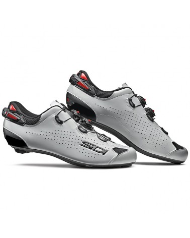 Sidi Shot 2 Men's Road Cycling Shoes, Black/Grey Glossy