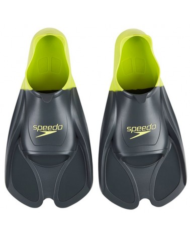 Speedo Biofuse Pinne Allenamento Nuoto, Grigio/Verde