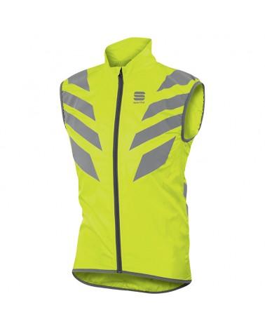 Sportful Reflex Vest Gilet Antivento Ciclismo, Yellow Fluo