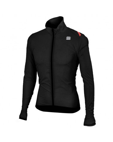 Sportful Hot Pack 6 Jacket Giacca Antivento Ciclismo, Black
