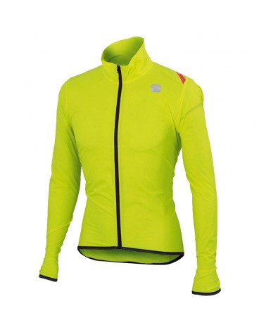 Sportful Hot Pack 6 Jacket Giacca Antivento Ciclismo, Yellow Fluo