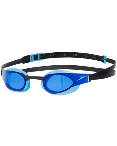 Speedo Fastskin Elite Goggle Unisex Swimming Goggle, Black/Blue/Blue