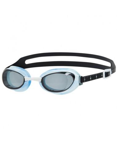 Speedo Aquapure Optical Prescription Swimming Goggle, Black/White/Rauch