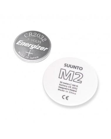 Suunto Kit Batteria Per M2, Con Coperchio Bianco Logo M2 E Guarnizione
