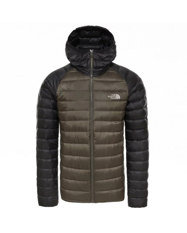 The North Face Trevail Hoodie Men's Down Jacket, New Taupe Green Matte/TNF Black Matte