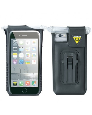 Topeak Drybag Custodia Impermeabile Porta iPhone 6 Attacco Manubrio Bici, Black