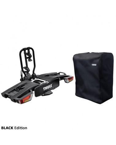 Thule Easyfold XT 2 933 13 Pin Plug Foldable Towbar Bike Rack, Black (2 Bikes)