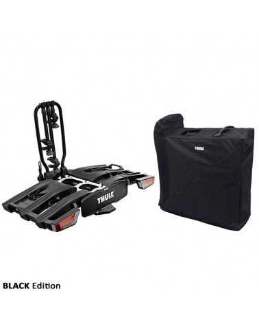 Thule Easyfold XT 3 934 13 Pin Plug Foldable Towbar Bike Rack, Black (3 Bikes)