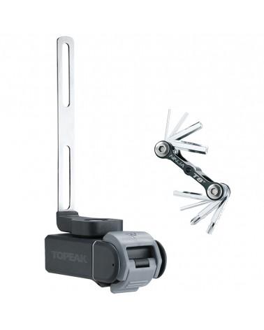 Topeak Kit Ninja T Road Supporto Portaborraccia + Set Attrezzi Ninja Toolbox T8