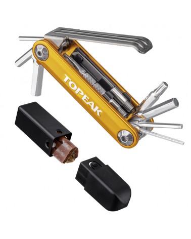 Topeak Tubi 11 Combo Bike Multitool + Tire Plug Kit (Set 5 Tire Plug Refill + Case)