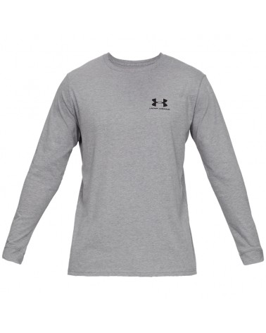 Under Armour Sportstyle Left Chest Maglia Maniche Lunghe Uomo, Gray