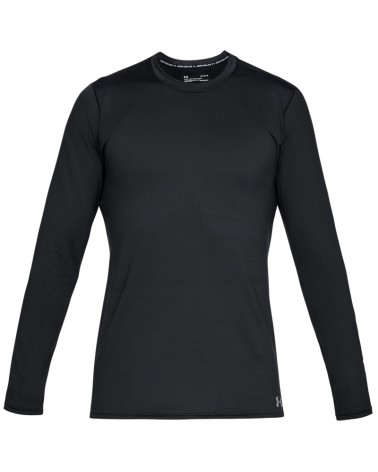 Under Armour Fitted ColdGear Crew Men's Long Sleeve Baselayer, Black