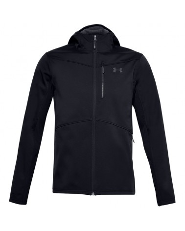 Under Armour UA ColdGear Infrared Shield Men's Hooded Full Zip Jacket, Black