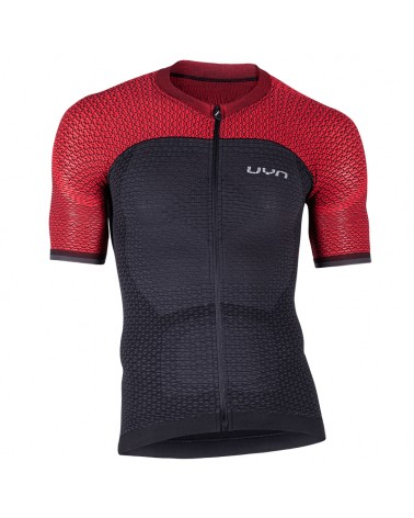 UYN Alpha Biking Men's Cycling Short Sleeve Jersey, Charcoal/Bitter