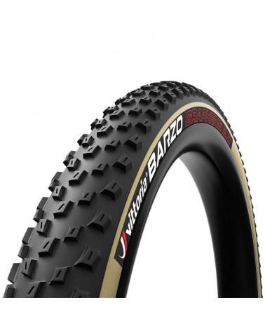 Vittoria Barzo 29x2.25 XC Race TLR 4C G2.0 Copertone Pieghevole 120 TPI, Nero/Beige