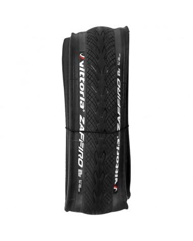 Vittoria Zaffiro IV 25-622/700x25c Folding Tyre Nylon 27 TPI, Black