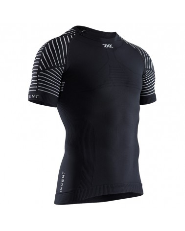 X-Bionic Invent 4.0 Light Men's Multisport Round Neck Short Sleeve Tee, Opal Black/Arctic White