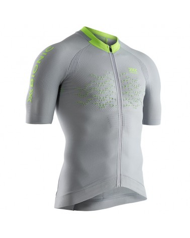 X-Bionic The Trick G2 Bike Zip SS Men's Cycling Short Sleeve Tee, Dolomite