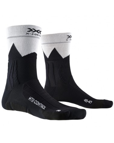 X-Bionic X-Socks MTB Control Calze Ciclismo, Opal Black/ZigZag