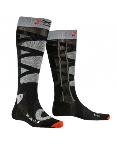 X-Bionic X-Socks Ski Control 4.0 Ski Socks, Anthracite Melange/Grey Melange