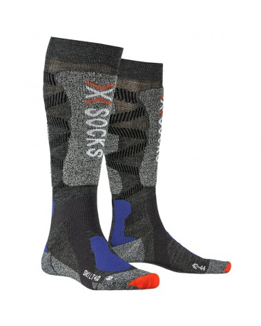 X-Bionic X-Socks Ski LT 4.0 Ski Socks, Anthracite Melange/Grey Melange