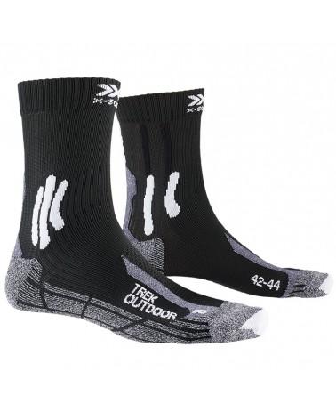 X-Bionic X-Socks Trek Outdoor Calze Trekking, Opal Black/Dolomite